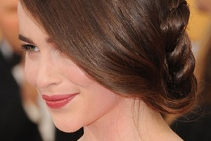 Emilia Clarke braided hairstyle