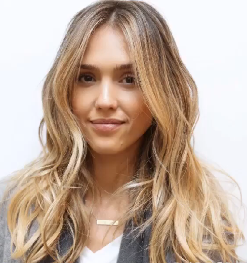 Jessica Alba New hair color 2015