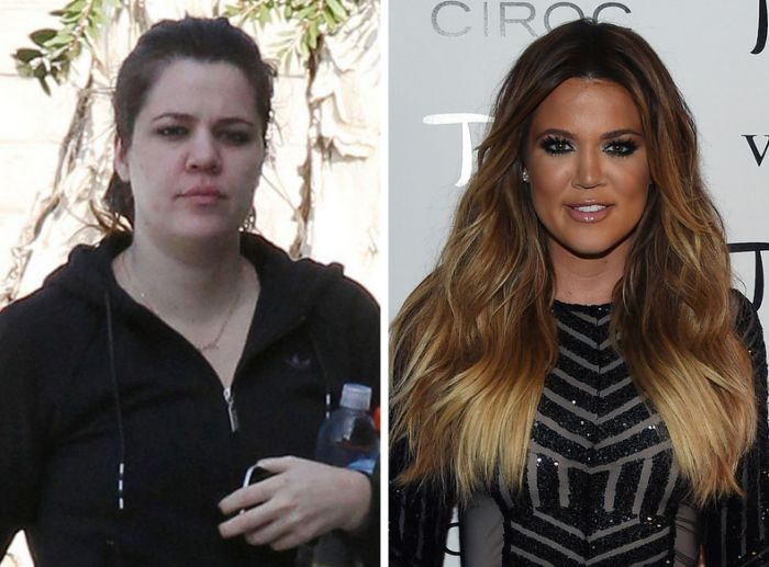 Khloé Kardashian without makeup