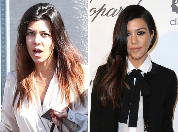 Kourtney Kardashian without makeup