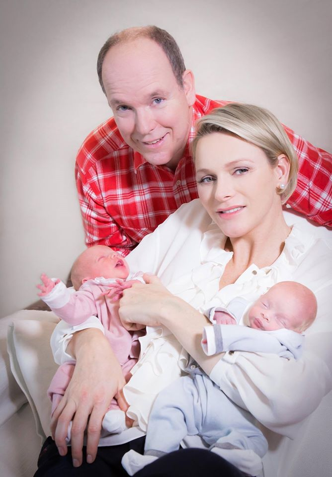 Prince Albert II and Princess Charlene babies photos