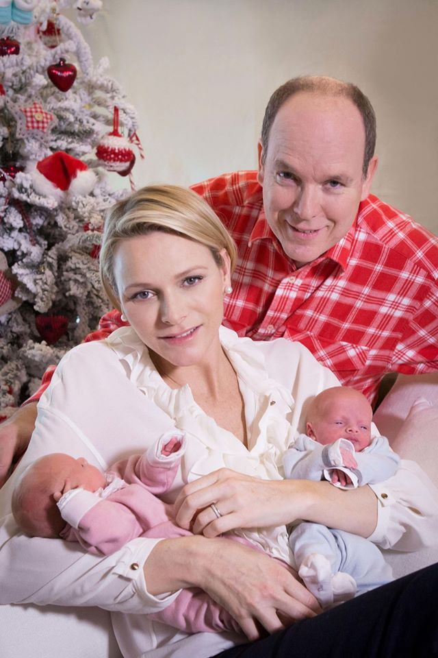 Prince Albert II and Princess Charlene photoshoot