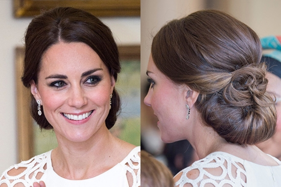 volume bun hairstyle Kate Middleton