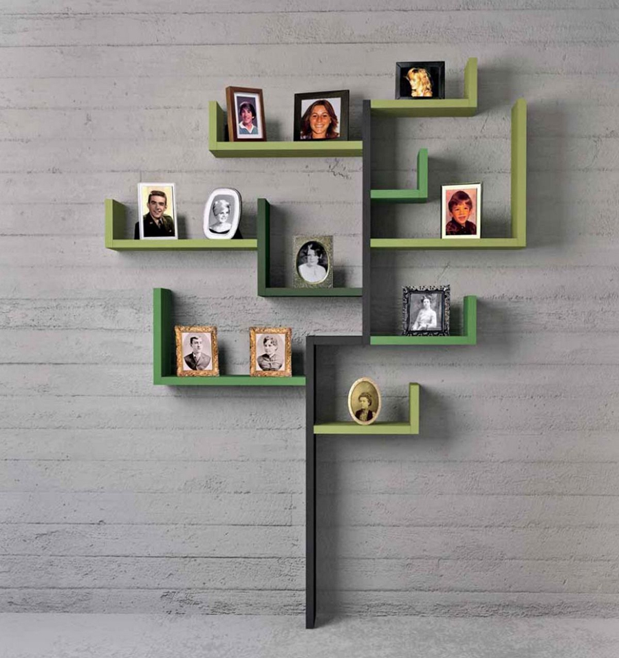 Modern tree-shaped shelf