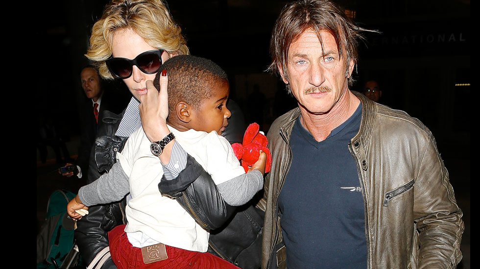 Sean Penn with Charlize Theron's son