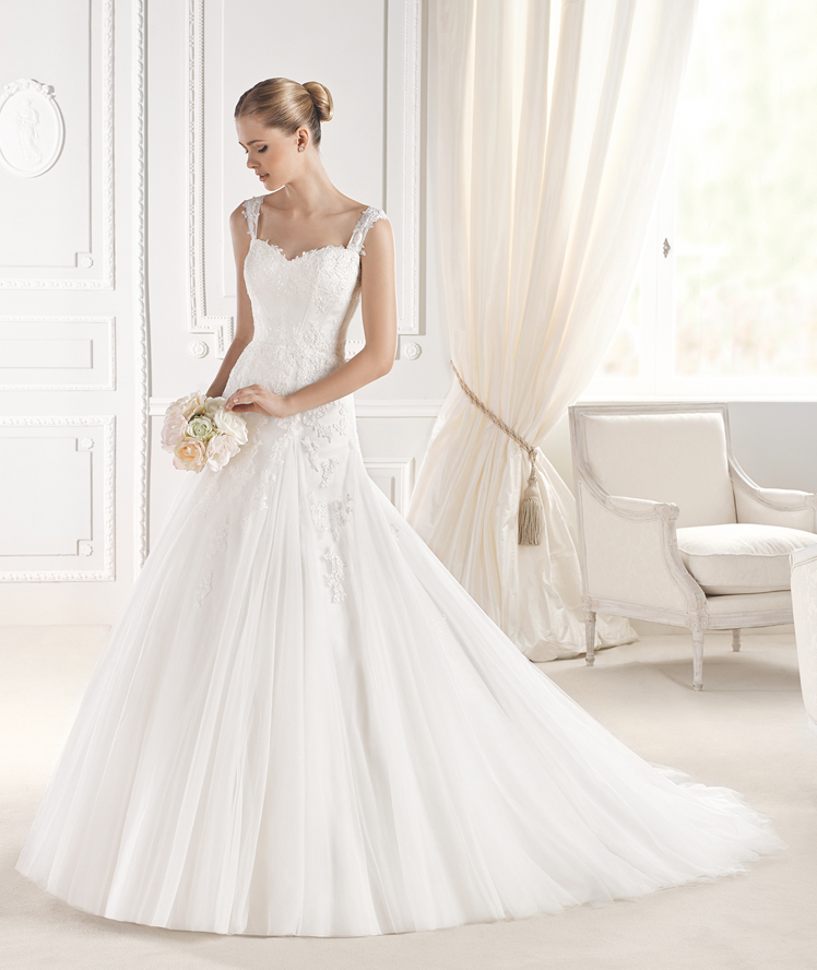La Sposa -Lace wedding dress with straps