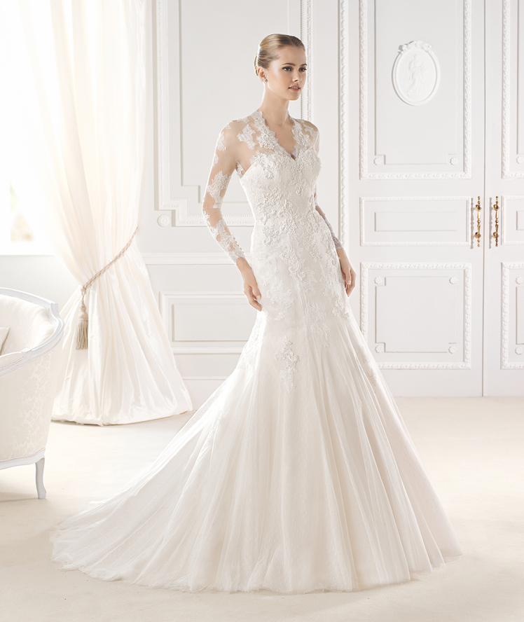 La Sposa- long sleeve lace wedding dress