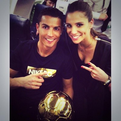 Lucia Villalon with Cristiano Ronaldo photo