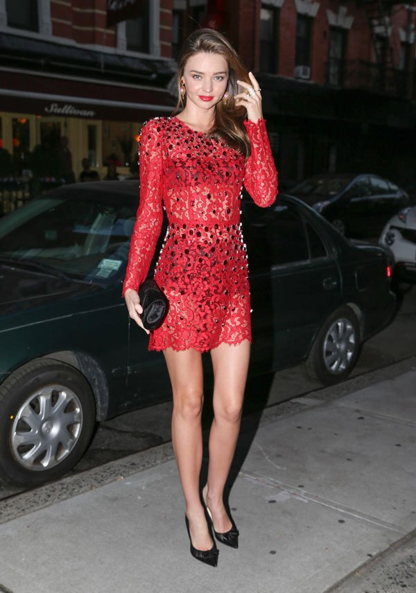 Miranda Kerr Dolce-Gabanna dress