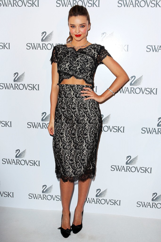 Miranda Kerr Swarovski dress