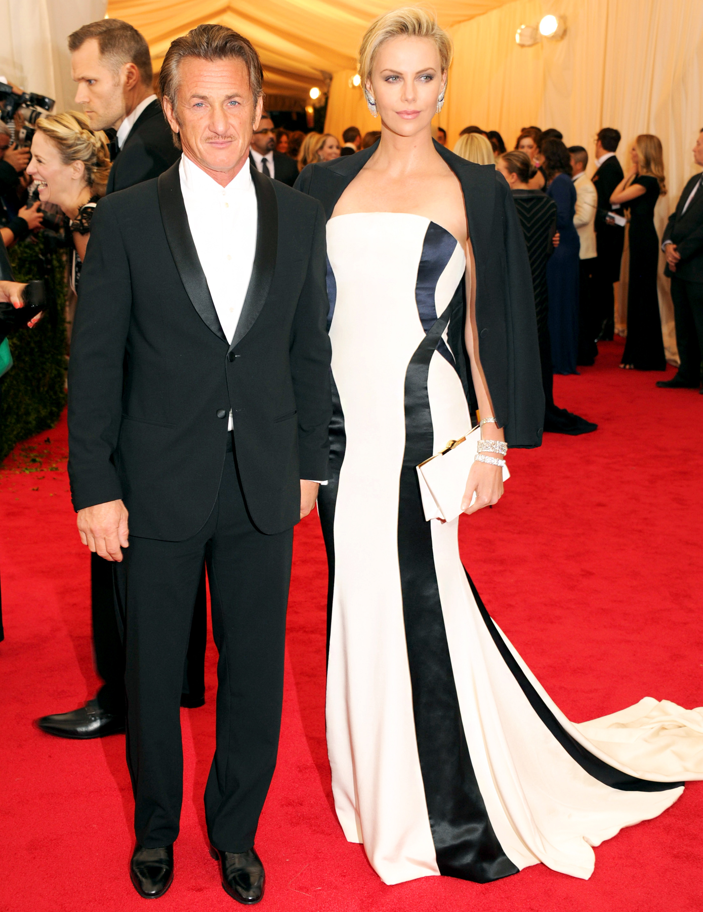Sean Penn with Charlize Theron red carpet