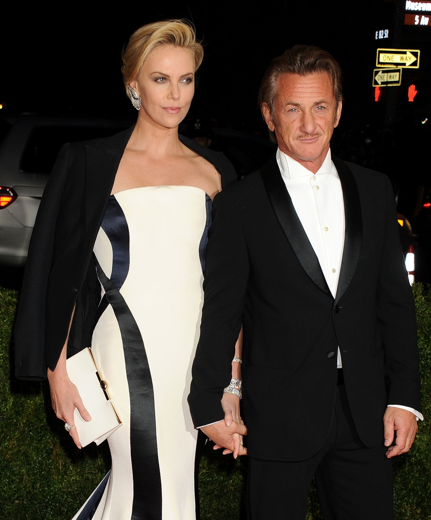 Sean Penn with Charlize Theron