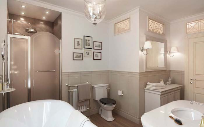 Neutral bathroom interior design
