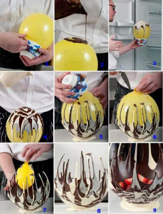Fruit Baskets made with balloons