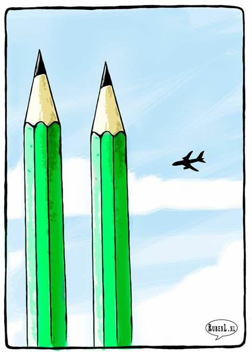 twiter Charlie Hebdo Attacks drawing