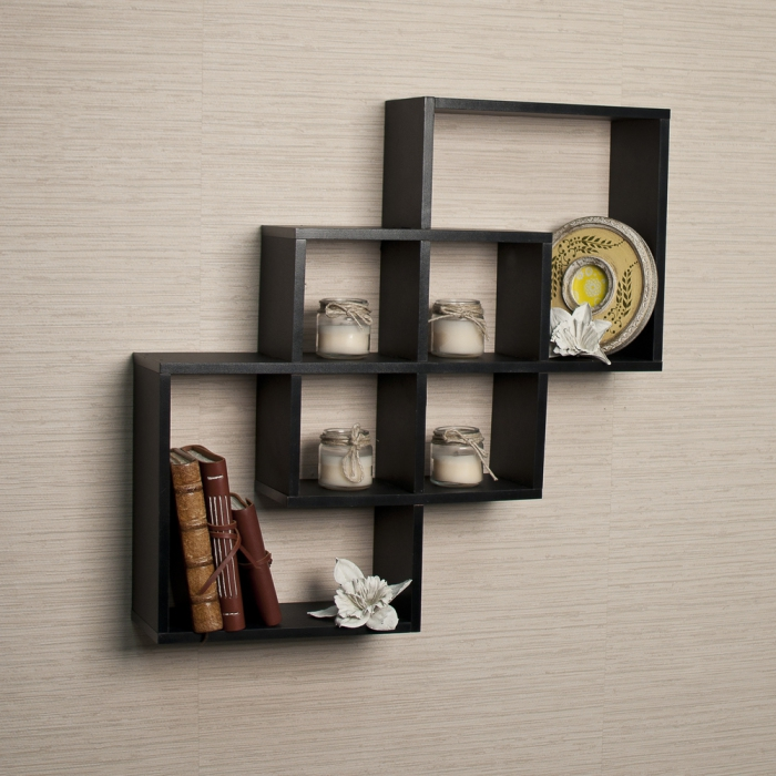 Modern square shelves