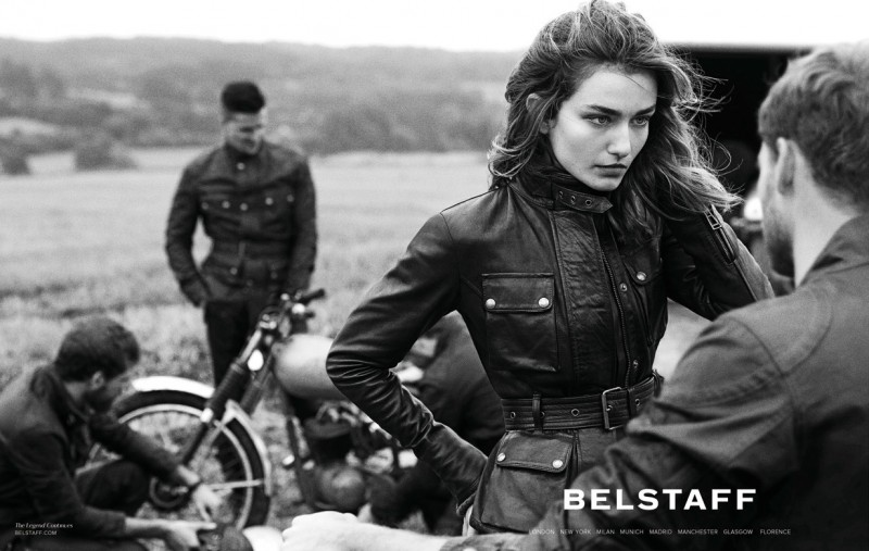 Andreea Diaconu for Belstaff campain with David Beckham
