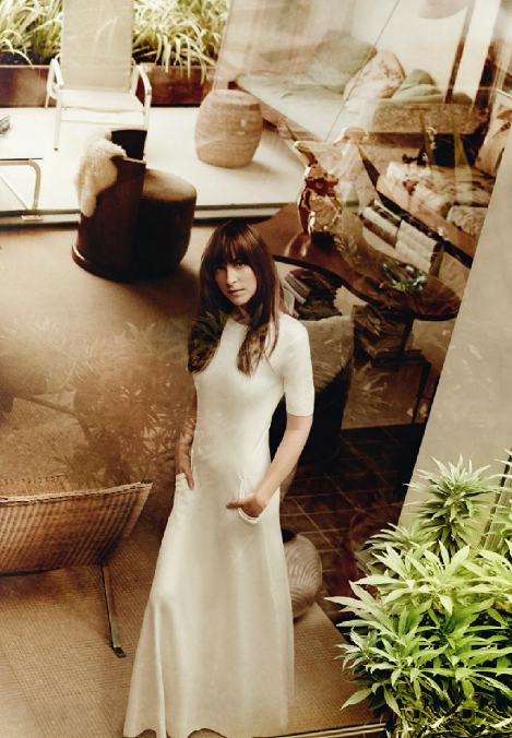 Dakota Johnson style in Vogue Magazine