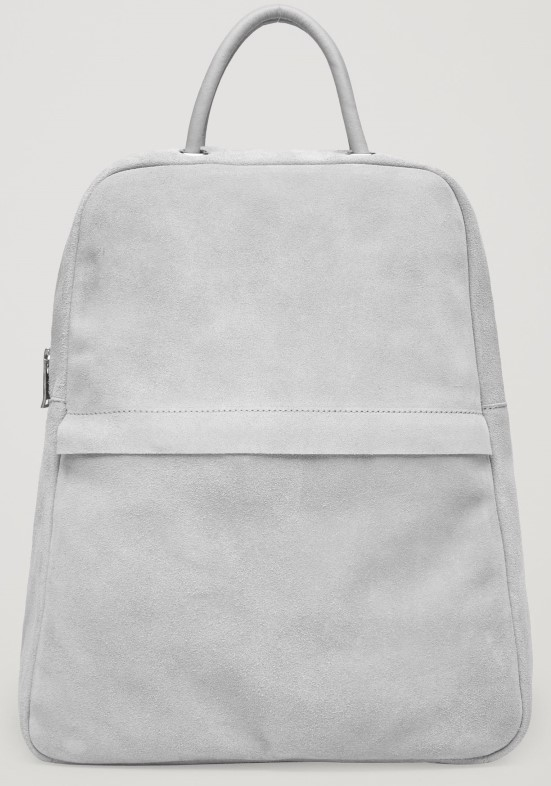 COS Suede gray leather backpack