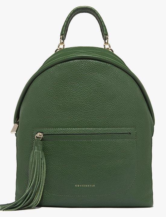 Coccinelle medium leather backpack imperial