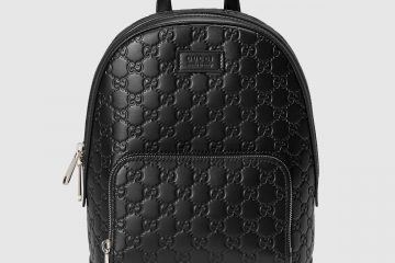 Gucci Signature black leather backpack