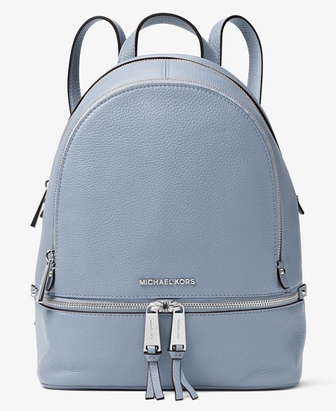 Michael Kors blue medium backpack